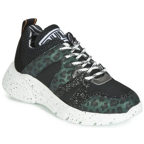 Shoes Women Low top trainers Meline LETTE Black / Green