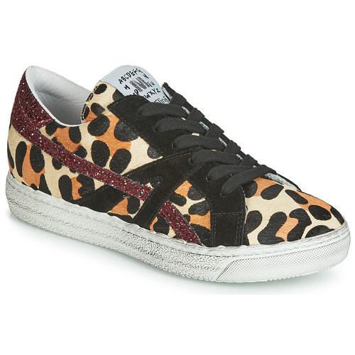 Shoes Women Low top trainers Meline BORDI Leopard