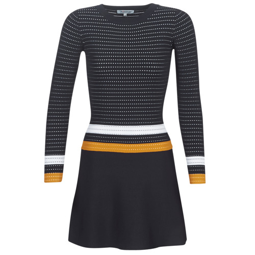 Clothing Women Short Dresses Morgan ROXFA Marine / White / Yellow