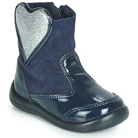 Shoes Girl Mid boots Gioseppo BUCKLAND Marine / Silver