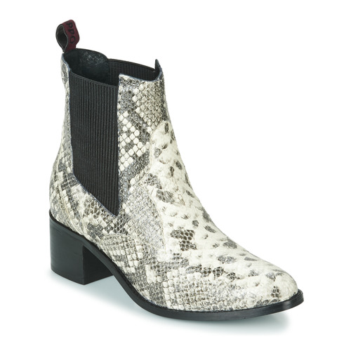 Shoes Women Ankle boots Gioseppo MIKKELI Black / White