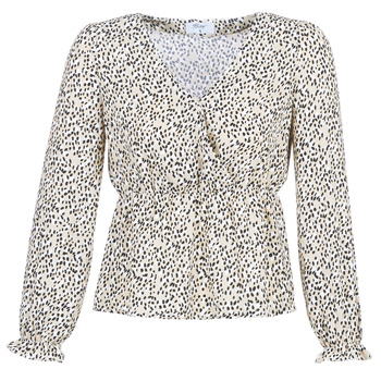 Clothing Women Tops / Blouses Betty London LOVA Beige / Black
