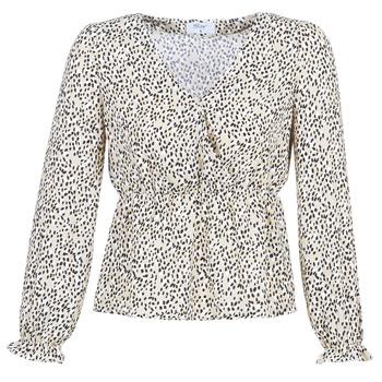 Clothing Women Tops / Blouses Betty London LOVA Beige / Black