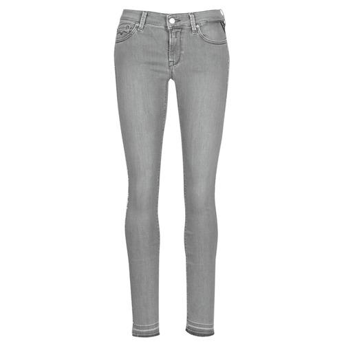 Clothing Women slim jeans Replay LUZ Grey