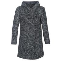 Clothing Women Coats Casual Attitude LOUA Grey / Black