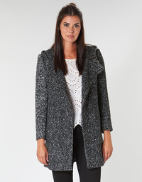 Clothing Women coats Casual Attitude LOUA Grey / Black