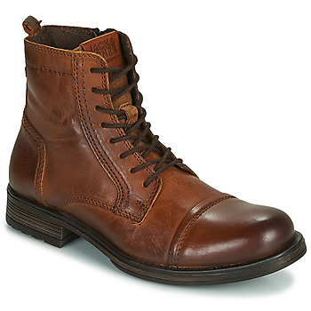 Edwardian Men's Shoes & Boots | 1900, 1910s Jack   Jones  JFW RUSSEL LEATHER  mens Mid Boots in Brown £74.99 AT vintagedancer.com