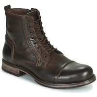 Shoes Men Mid boots Jack & Jones JFW RUSSEL LEATHER Brown