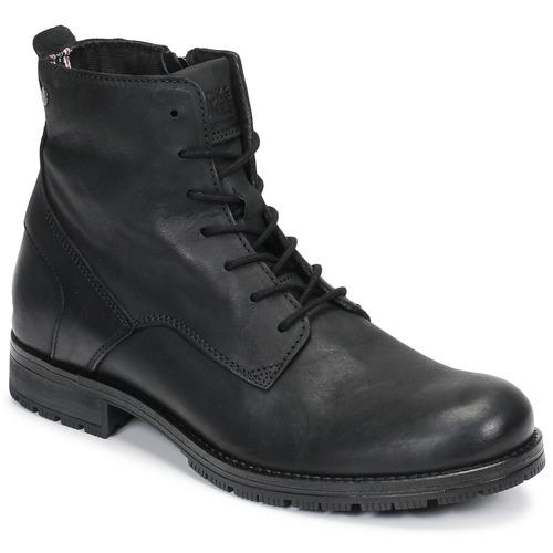 Shoes Men Mid boots Jack & Jones JFW ORCA LEATHER Black