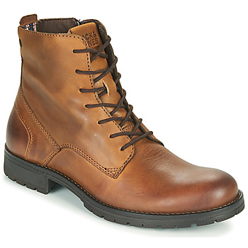 Shoes Men Mid boots Jack & Jones JFW ORCA LEATHER Cognac