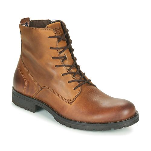 Shoes Men Mid boots Jack & Jones JFW ORCA LEATHER Cognac