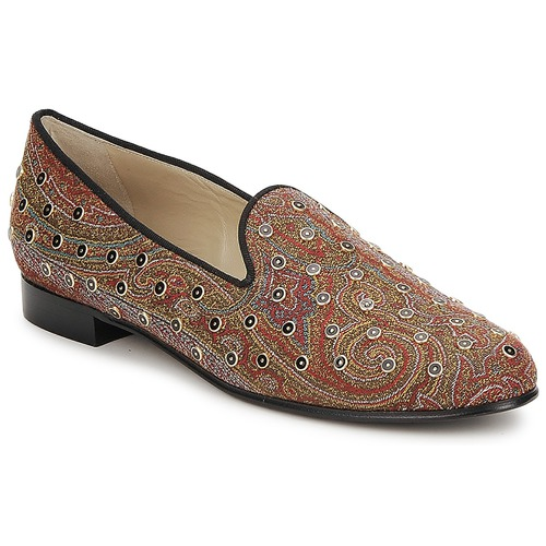Shoes Women Loafers Etro BORCHIE Brown