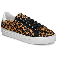Shoes Women Low top trainers Ikks BP80245-62 Leopard