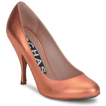 Shoes Women Heels Rochas RO18061-90 Metallic orange