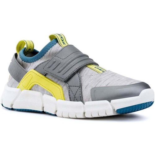 Shoes Boy Fitness / Training Geox Junior Flexyper Boys Sports Trainers grey