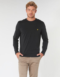 Clothing Men Long sleeved tee-shirts Lyle & Scott TS512V-574 Black