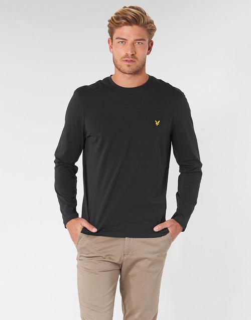 Clothing Men Long sleeved tee-shirts Lyle & Scott TS512V-574 Black