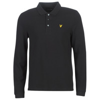 Clothing Men long-sleeved polo shirts Lyle & Scott LP400VB-574 Black
