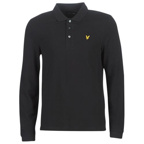 Clothing Men Long-sleeved polo shirts Lyle & Scott LP400VB-574 Black