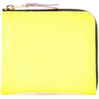 Bags Women Wallets Comme Des Garcons Portafoglio  in pelle gialla e Multicolour