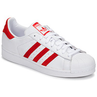 Shoes Low top trainers adidas Originals SUPERSTAR White / Red