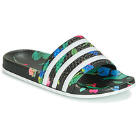 Shoes Women Tap-dancing adidas Originals ADILETTE W Black / White