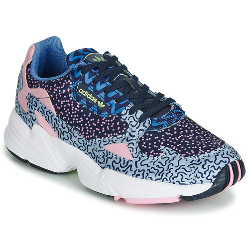 Shoes Women Low top trainers adidas Originals FALCON W Blue / Pink