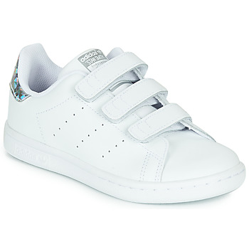 Shoes Girl Low top trainers adidas Originals STAN SMITH CF I SUSTAINABLE White / Iridescent