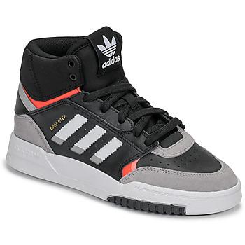 Shoes Boy Hi top trainers adidas Originals DROP STEP J Black / Grey