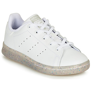 Shoes Girl Low top trainers adidas Originals STAN SMITH C White