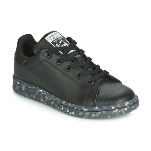 Shoes Children Low top trainers adidas Originals STAN SMITH C Black