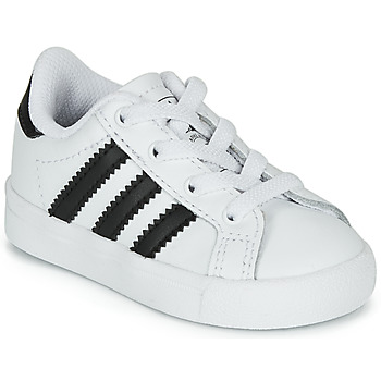 Shoes Children Low top trainers adidas Originals COAST STAR EL I White / Black