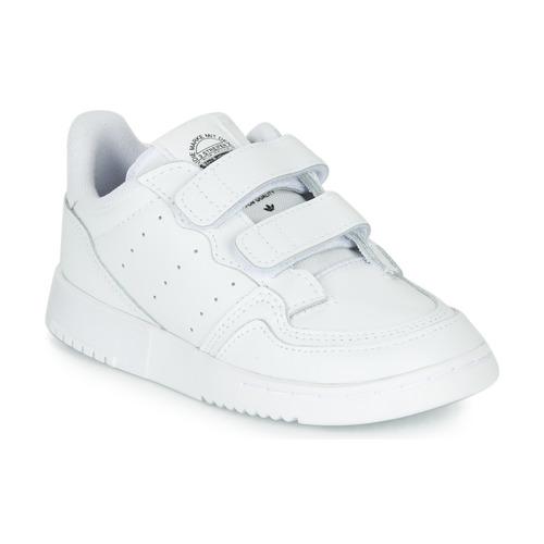 Shoes Children Low top trainers adidas Originals SUPERCOURT CF I White