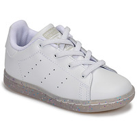 Shoes Girl Low top trainers adidas Originals STAN SMITH EL I White / Glitter