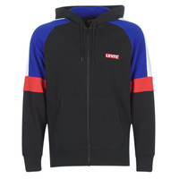 Clothing Men Sweaters Levi's PIECED FULLZIP HOODIE Black / Blue / Red