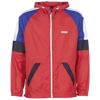Clothing Men Macs Levi's COLORBLOCK WINDRUNNER Red / Blue