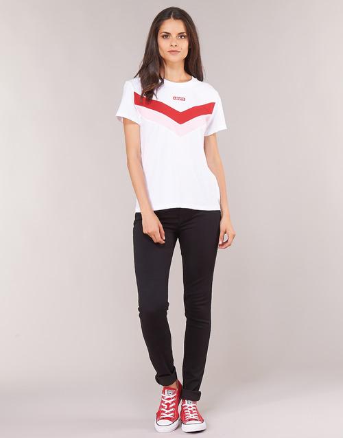 Clothing Women Skinny jeans Levi's 721 HIGH RISE SKINNY Black