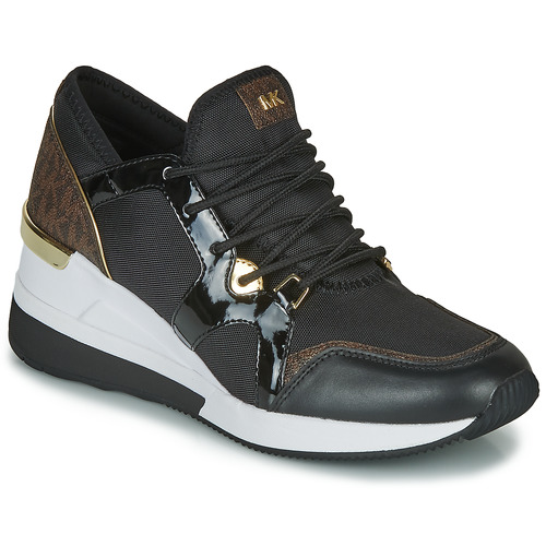 Shoes Women Low top trainers MICHAEL Michael Kors LIV TRAINER Black / Brown
