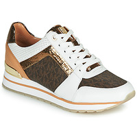 Shoes Women Low top trainers MICHAEL Michael Kors BILLIE TRAINER White / Brown