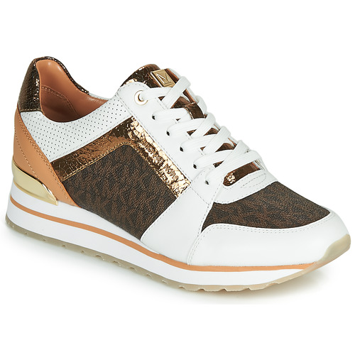 Shoes Women Low top trainers MICHAEL Michael Kors BILLIE TRAINER White / Brown