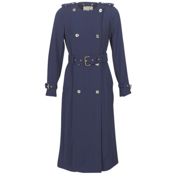 Clothing Women Trench coats MICHAEL Michael Kors COLLARLESS TRENCH Marine
