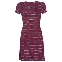 Clothing Women Short Dresses MICHAEL Michael Kors EMBELL FLARE MINI DRS Bordeaux