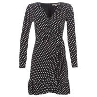 Clothing Women Short Dresses MICHAEL Michael Kors ELV DOT SHRD LS DRS Black