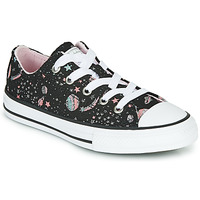 Shoes Girl Low top trainers Converse CHUCK TAYLOR ALL STAR - OX  black / Purple