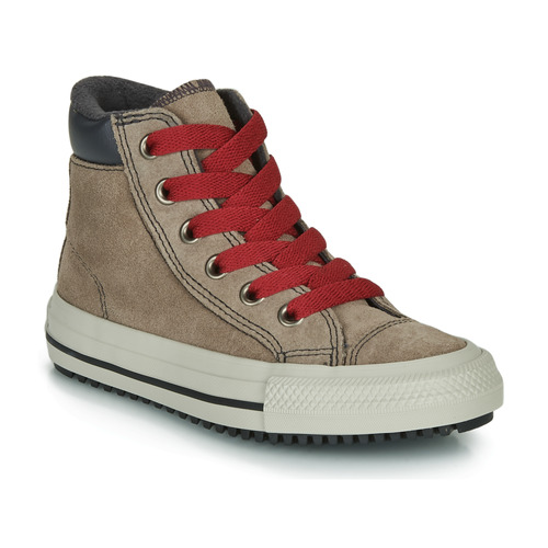 Shoes Boy Hi top trainers Converse CHUCK TAYLOR ALL STAR PC BOOT BOOTS ON MARS - HI Brown