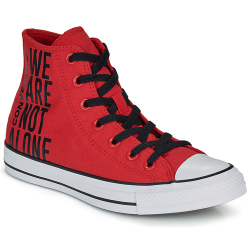 Shoes Hi top trainers Converse CHUCK TAYLOR ALL STAR WE ARE NOT ALONE - HI Red