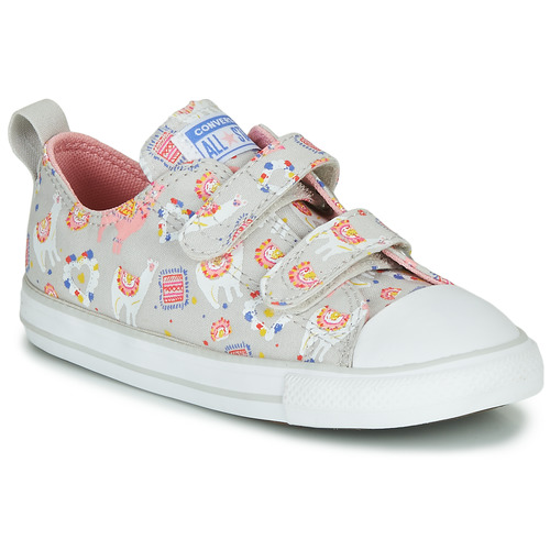 Shoes Girl Low top trainers Converse CHUCK TAYLOR ALL STAR 2V LLAMA - OX Grey