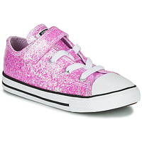 Shoes Girl Low top trainers Converse CHUCK TAYLOR ALL STAR COATED GLITTER 1V - OX Pink