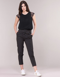 Clothing Women 5-pocket trousers Betty London LAALIA Black / White