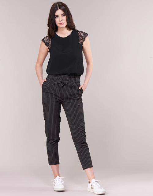 Clothing Women 5-pocket trousers Betty London LAALIA Black / White